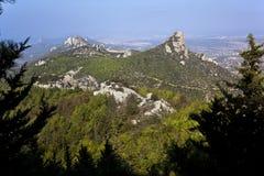 Turkish Cyprus - Karpathia Mountains stock images