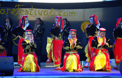 Turkish dance group performance Royalty Free Stock Images