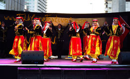 Turkish dance group performance Stock Photography