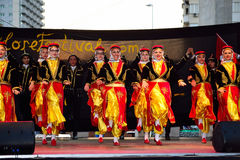 Turkish dance group performance Royalty Free Stock Photo