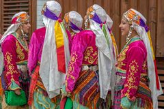 Turkish dancer girls in traditional costume Royalty Free Stock Photography