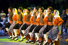 Turkish dancers. International folklor festival Veliko Turnovo Bulgaria photo taken on July 29 2009 Stock Images
