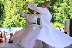 Whirling Dervish. That revolve on stage at Turkish festival in Bucharest,Romania Stock Photography
