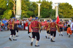 Turkish dancers outdoor Royalty Free Stock Photos