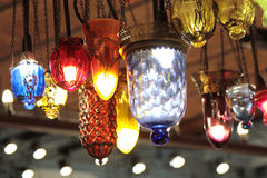 Turkish decorative colorful lamps. Royalty Free Stock Image