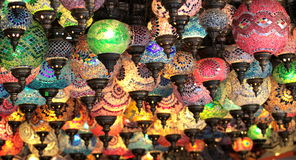 Turkish decorative colorful lamps Stock Photos