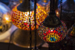 Turkish decorative lamps of mosaics  glass Royalty Free Stock Photos