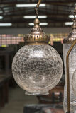 Turkish decorative lamps for sale in the store Royalty Free Stock Photography
