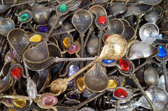 Turkish decorative souvenir spoons Stock Photo