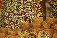 Turkish delight. Made with honey and pistachio Stock Photography