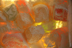 Turkish Delight. Treat lighted from behind stock images