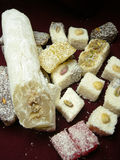 Turkish delight. Walnut,dried frit Stock Photography