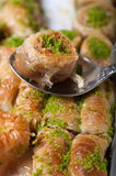 Turkish delight. Baklava sweet food royalty free stock images