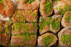 Turkish delight. Baklava sweet food stock image
