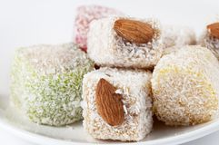Turkish delight. Different kinds of turkish delight on a dish Stock Image