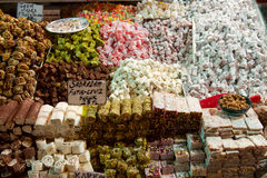 Turkish Delight. From Spice Bazaar Istanbul Turkey stock photography