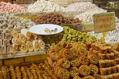 Turkish Delight. At Spice Bazaar stock photos