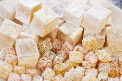 Turkish Delight. In the plate stock image
