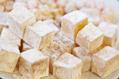 Turkish Delight. In the plate royalty free stock photography