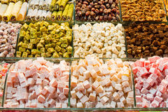 Turkish Delight. From Spice Bazaar royalty free stock photo
