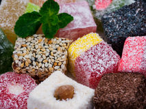 Turkish delight assorted close up Stock Photo