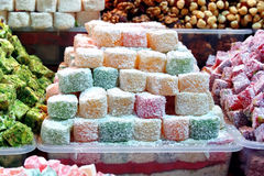 Turkish Delight basket Stock Photos