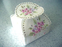 Turkish delight box. Close up of decorative traditional box containing Turkish delight Stock Images