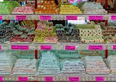 Turkish delight and candies stock image