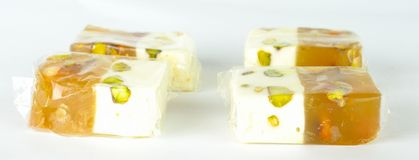 Turkish delight candy with each other Stock Photos
