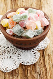 Turkish Delight in a clay bowl Royalty Free Stock Photo