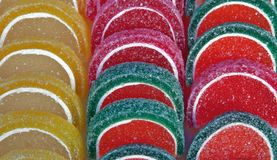Turkish delight close up Stock Photography