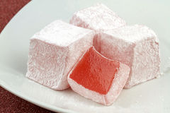 Turkish delight. Close up image royalty free stock photo