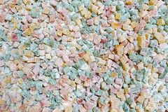 Turkish delight closeup. Closeup of turkish delight jelly pieces in various colors Stock Photos