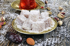 Turkish delight with coconut Stock Photography