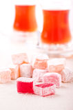 Turkish delight cubes Royalty Free Stock Photo