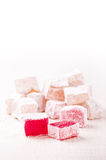 Turkish delight cubes Royalty Free Stock Photography