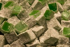 Turkish delight. Green royalty free stock image