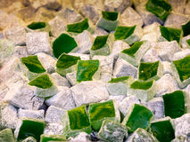 Turkish delight in green Stock Photos