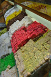 Turkish delight in Istanbul Bazaar Royalty Free Stock Photography
