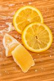 Turkish delight and lemon Stock Photo