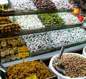 Turkish delight. Like pistachios, grapes, rakat lokum, made in Istanbul Royalty Free Stock Images