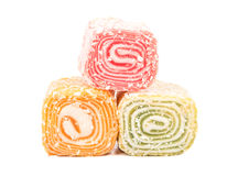 Turkish delight lokum Stock Photos