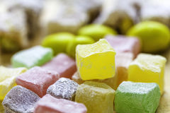 Turkish delight lokums Stock Photos