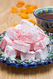 Turkish Delight or lukum and tee Stock Image