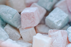 Turkish Delight. Macro of Turkish Delight. Abstract texture Royalty Free Stock Images