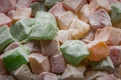 Turkish delight. Mix color stock images