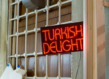 Turkish delight neon Stock Photos