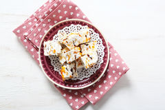 Turkish delight with nuts and almonds Stock Image