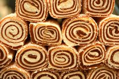 Turkish delight with nuts. In store royalty free stock photo