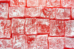Turkish Delight Pink Overhead. Rose flavoured Turkish delight from above Stock Images